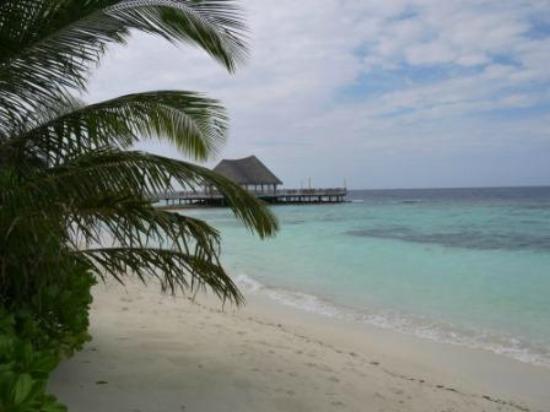 Bandos Maldives: Пляж около ресторана