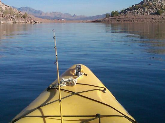 Kayak fishing on lake mead picture of desert adventures for Fishing lake mead
