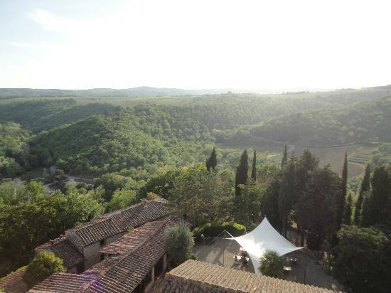 Castello di Tornano: view from top of castle tower