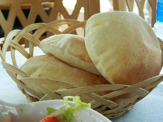 Fish Market: fresh baked Egyptian bread