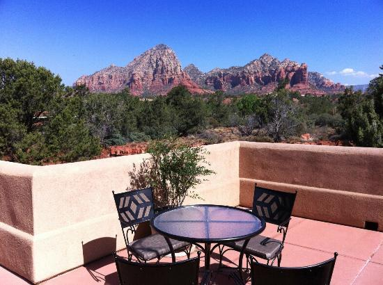 BEST WESTERN PLUS Inn of Sedona: View from the outdoor terrace - a lovely spot for drinks
