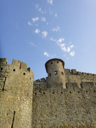 La Cité de Carcassonne, en partant de Casa Trivala