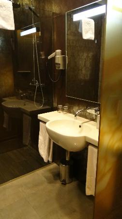Hotel Palazzo Zichy: Bathroom (superior twin room)