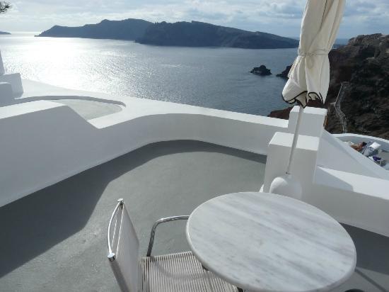 Katikies Hotel: terrasse de la chambre