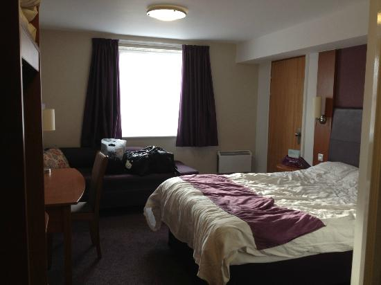 Premier Inn Scunthorpe Hotel: View from Main entrance. This was a double bed room
