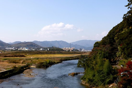 Kameoka, Japan: Near the start of the river ride
