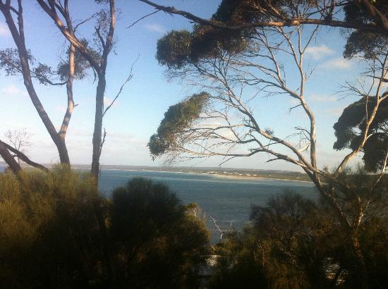 Wanderers Rest of Kangaroo Island: View from verandah across American bay, also visible from bed!