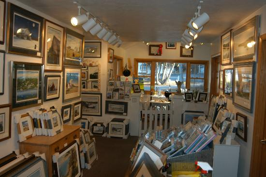 Water Street Gallery: Interior showing artists studio