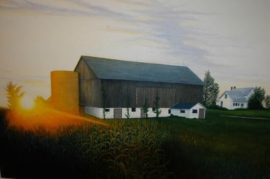 "Water Street Gallery: From the ""Barns of Door County"" original painting by Fred Bridenhagen"
