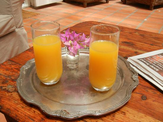 22 Die Laan Guest House: Orange juice on arrival