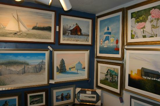 Some of the original paintings at Water Street Gallery