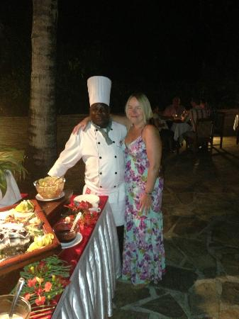 Pinewood Beach Resort & Spa: Mr 'Pudding Man', the most cheerful man at Pinewood!!