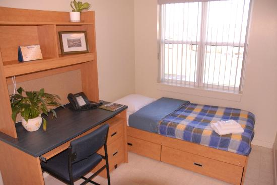 Grenfell Campus Summer Accommodations, Memorial University of Newfoundland : Single bedrooms in the chalets