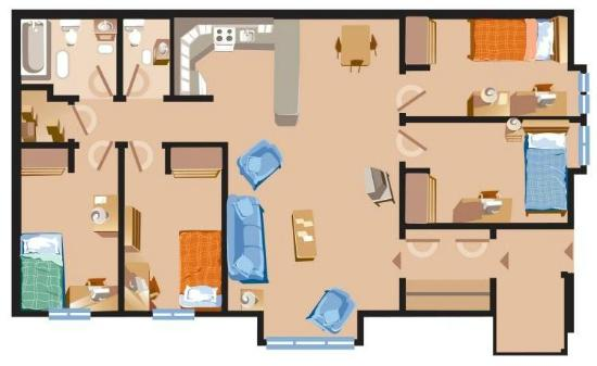 Chalet style apartment floor plan Picture of Grenfell Campus