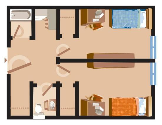 Perfect Grenfell Campus Summer Accommodations, Memorial University Of Newfoundland:  Residence Room Floor Plan Part 2