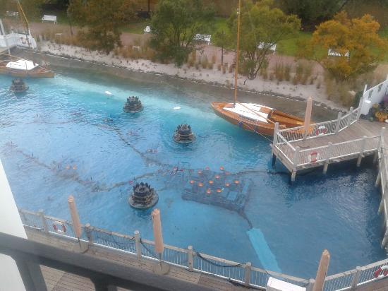 """Hotel """"Bell Rock"""" Europa-Park: Vue de la chambre sue le petit lac."""