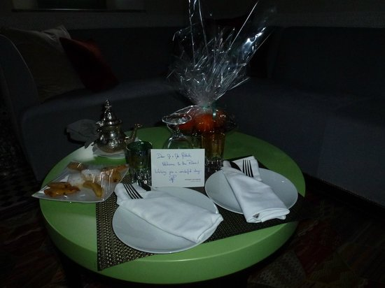 Palais Faraj Suites & Spa: welkoms service, mint thee
