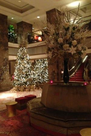 The Michelangelo Hotel: The lobby decor for Christmas