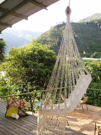 La Casa Verde- Eco Guest House: View from the deck.