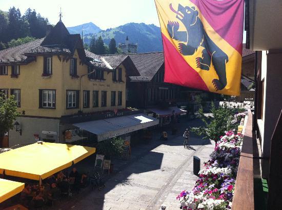Gstaaderhof Swiss Quality Hotel: Vue de la chambre