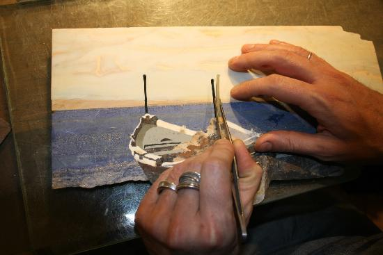 Scarpelli Mosaici: commettere