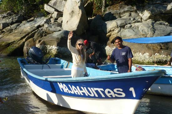 Majahuitas Resort: Boat ride to Majahuitas