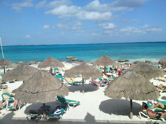 Hotel Riu Cancun: Plage privé de l'hôtel
