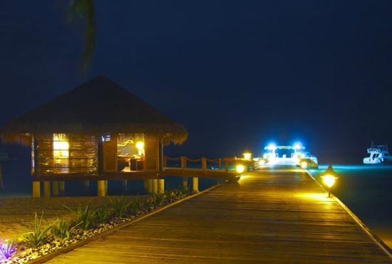 Vivanta by Taj Coral Reef Maldives: 夜のレセプション
