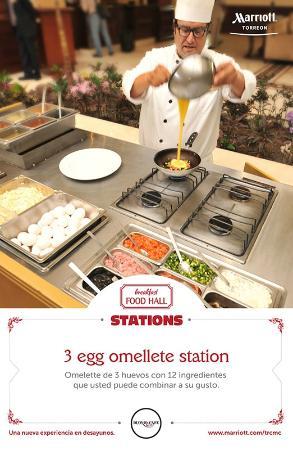 Torreon Marriott Hotel : omelet station
