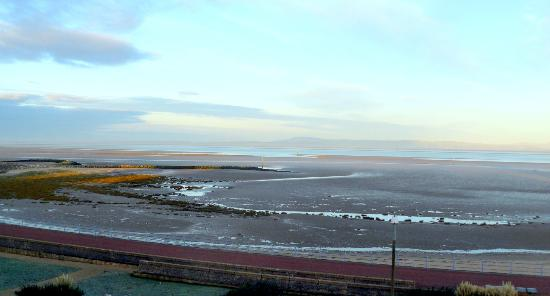 The Balmoral Guest House: Just after sunrise, looking across Morecambe bay