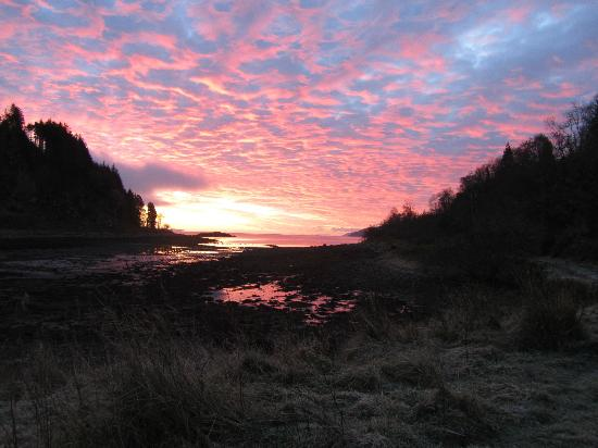 Stonefield Castle Hotel : Dawn sky - 2nd December below freezing, magic!