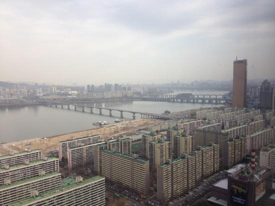 Conrad Seoul: the view from my room in the 34th floor