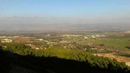Hotel Mitzpe Hayamim: View of the Golan heights and the Galil from the hotel