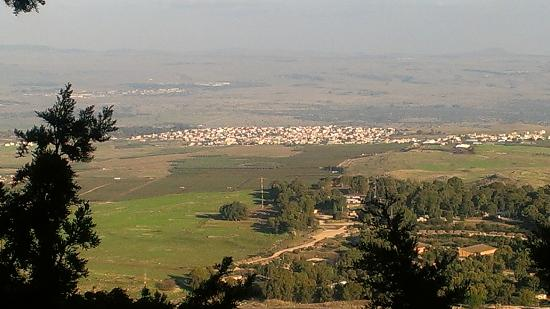 Hotel Mitzpe Hayamim: View of the Golan heights from the hotel