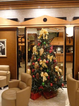 Hotel Metro: Xmas tree in reception