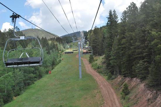 The Lodge at Angel Fire Resort: view from chair lift in summer