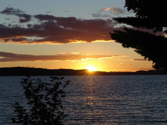 Sunset at Kipawa Lodge