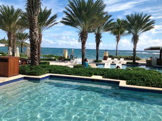 The Westin Dawn Beach Resort & Spa, St. Maarten: Pool area, looking towards the beach