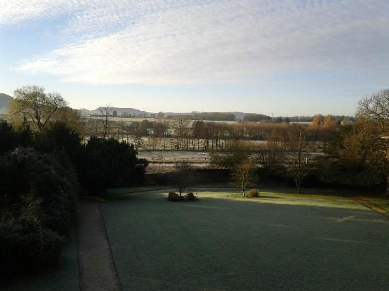 Stonehouse Court: View from our window, Rm 14