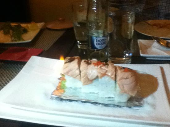 Flambeed Salmon sushi - Miss Saigon
