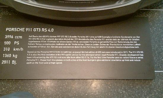 Prototyp Car Museum : tabliczka (przykładowa z opisem)