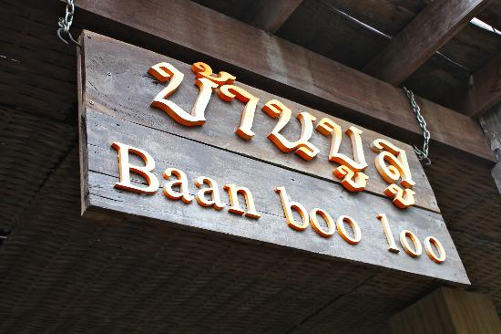 BaanBooLOo Traditional Thai Guest House: Sign