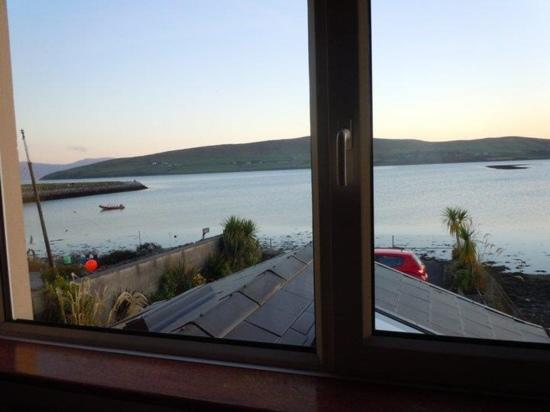 Dingle's First Cottage by the Sea: view out of our window. car park below
