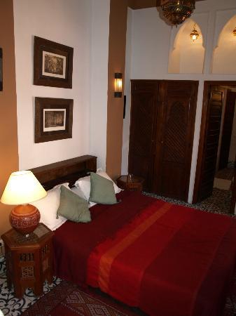 Riad Barroko: La chambre, avec salle de bain privative