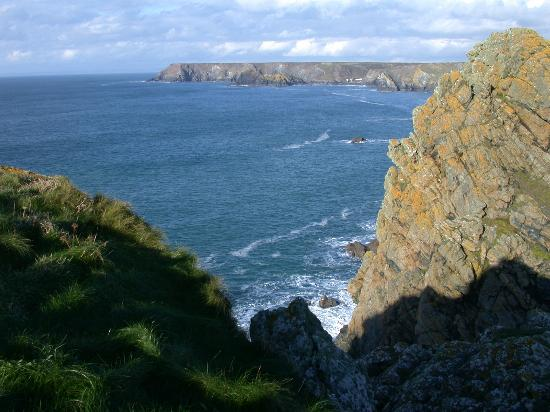 Falmouth Lodge Backpackers : Cornish Coast from the cliff path