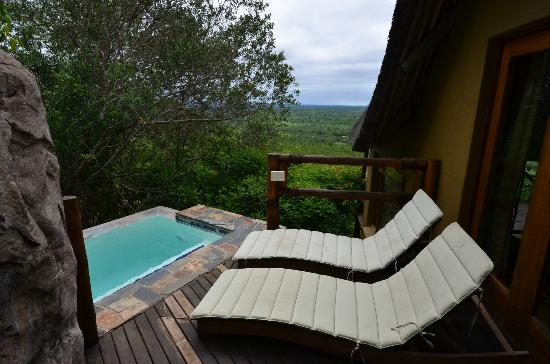 Ulusaba Safari Lodge: Rock Lodge room plunge pool