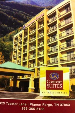 Comfort Suites: at the top of the hill