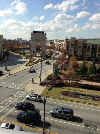 Twelve Atlantic Station: View from the balcony of suite #425 on 12/1/12