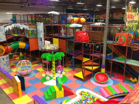 Elevated Sportz Indoor Trampoline Park: play structure