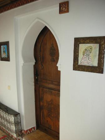 Hotel Riad Casa Hassan Restaurante: Hotel Riad Casa Hassan our room door